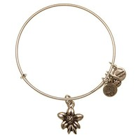 Alex and Ani Apple Blossom Charm Bangle - Russian Silver