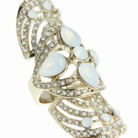 Lipsy Crystal Embellished Ring