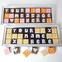 personalised box of 27 chocolates by cocoapod chocolates | notonthehighstreet.com