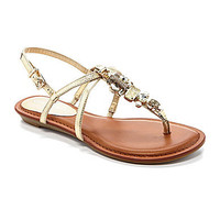 Gianni Bini Sapphire Jeweled Wedge Sandals | Dillards.com