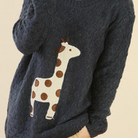 LOVELY DOTS GIRAFFE PULLOVER SWEATER4