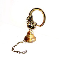 Vintage Brass Wall Mount Chiming Dinner / Bar Bell