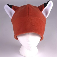 Fox Hat - Orange Fleece Fox Ear Naruto by Ningen Headwear
