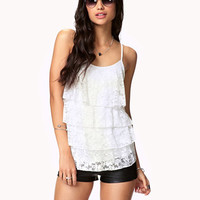 Tiered Lace Ruffle Tank | FOREVER 21 - 2051659824