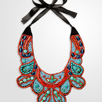 Beaded Zanzibar Bib Necklace