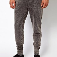 ASOS Skinny Acid Wash Sweatpants at asos.com