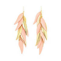 Bohemian Leaf Dangle Earrings: Charlotte Russe