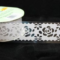 Lace Deco Tape Kawaii Masking Tape white Rose by charmstore