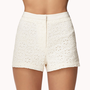 High-Waisted Eyelet Shorts