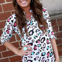 Multi Colored Leopard Tunic | The Rage