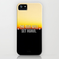 The Sun Will Set Again iPhone & iPod Case by Josrick