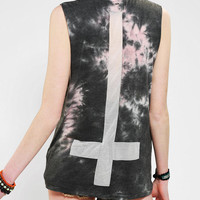 Urban Outfitters - OBEY Comes Trouble Tie-Dye Muscle Tee