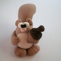 Squirrel Polymer Clay Creation by bdbworld on Etsy by bdbworld