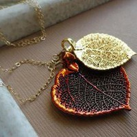 READY TO SHIP Genuine Aspen Leaves Lariat Necklace by briguysgirls