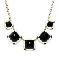 Kinmore Necklace in Black and White - ShopSosie.com
