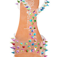 Jeffrey Campbell The Puffer Sandal in Clear Rainbow : Karmaloop.com - Global Concrete Culture