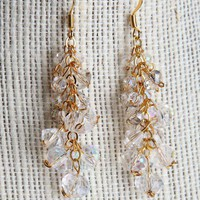 Handmade Luminescent Swarovski Crystal Bridal Earrings  22k | peaceloveandallthingsjewelry - Wedding on ArtFire