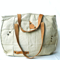 Shoulder library bag / Diaper bag / Modern cozy bag