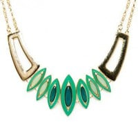 Centinela Necklace in Green - ShopSosie.com