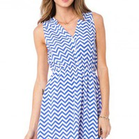 Zig Zag Sundress in Skylight - ShopSosie.com