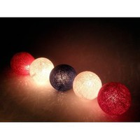 Amazon.com: I Love Handicraft Dark Flag Color Tone Cotton Ball String Lights Patio Wedding and Party Decoration (20 Balls/set): Everything Else