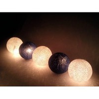 Amazon.com: I Love Handicraft Dark Blue Color Tone Cotton Ball String Lights Patio Wedding and Party Decoration (20 Balls/set): Everything Else