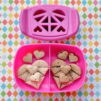 FunBites Hearts - Cuts kids' food into fun-shaped bite-sized pieces . . . Great for picky eaters and bento!