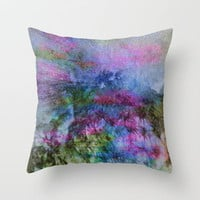 Dragon Summit  Throw Pillow by Gréta Thórsdóttir