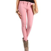 Dusty Rose Stretch Skinny Pants