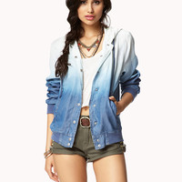 Hooded Ombré Chambray Jacket | FOREVER21 - 2000050081