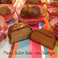 BUCKEYES or Peanut Butter Balls - VARiETY of FLAVORS - Valentine&#x27;s Day or Birthday Treats - Smooth Peanut Butter