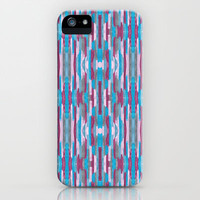 Plum, Pink, and Teal Abstract iPhone &amp; iPod Case by Empire Ruhl