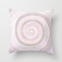 Re-Created Spin Painting No. 17 Throw Pillow by Robert Lee
