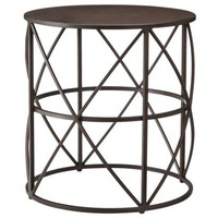 Accent Table Metal Cage - Brown