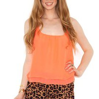 West Coast Wardrobe Feline Instinct Ruffle Short in Leopard