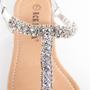 Glitzy Girl Jeweled Thong Sandals - Silver from Sandals at Lucky 21 Lucky 21