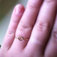 Reversible and Adjustable Heart Infinity Knot Dainty Ring