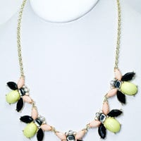 Bee&#x27;s Knees Necklace - Yellow -  $26.00 | Daily Chic Accessories | International Shipping