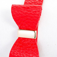 Bow Tie Babe Leather Stud Bracelet - Red -  $15.50 | Daily Chic Accessories | International Shipping