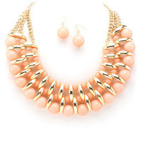 Casablanca Necklace - Peach -  $26.00 | Daily Chic Accessories | International Shipping