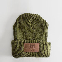 Profound Aesthetic Discoverer Beanie Olive Green