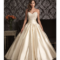 2013 Allure Bridal - Gold &amp; Silver Swarovski Crystal Wedding Gown - Unique Vintage - Prom dresses, retro dresses, retro swimsuits.