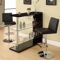 Sleek Contemporary Home Bar at BrookstoneBuy Now!