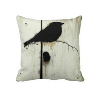Early Bird American MoJo Pillow from Zazzle.com