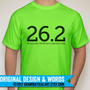 Neon Running Shirt Marathon T-Shirt Neon Yellow Gifts for Runners Apparel Marathon Gift Half Marathon Neon Green Pink Blue Runner Gift
