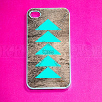 iphone 4 Cases,iphone case, Teal arrow on wood print iPhone 4 Case,  Iphone 4s Cover,Case for iPhone 4