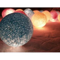 Amazon.com: I Love Handicraft Candy Color Tone Cotton Ball String Lights Patio Wedding and Party Decoration (20 Balls/set): Everything Else