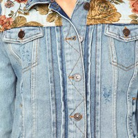 River Island Tapestry Denim Jacket