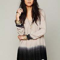 Free People  Dip Dye Long Sleeve Tunic at Free People Clothing Boutique
