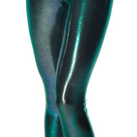 Oil Slicks Green Leggings - LIMITED | Black Milk Clothing